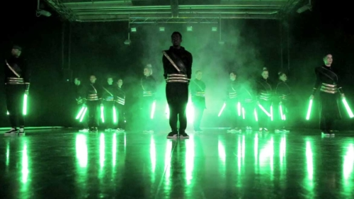 LED-Show und Tanzperformance in Berlin